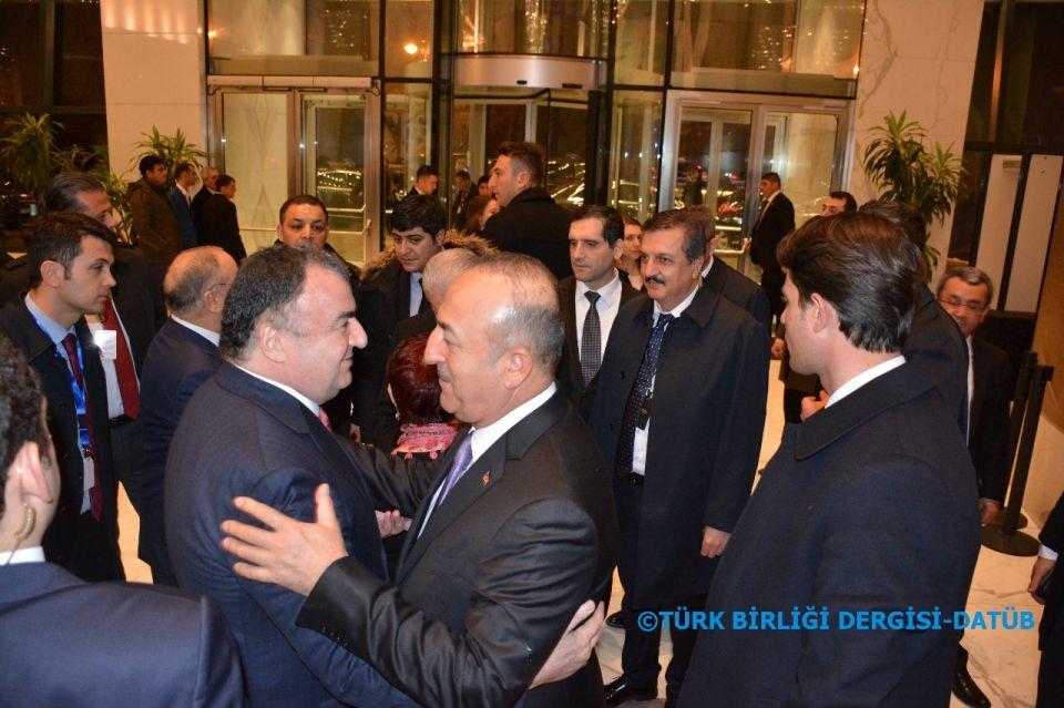 Dışişleri Bakanı Sayın Mevlüt Çavuşoğlu DATÜB Genel Başkanı Ziyatdin Kassanov ile Bakü'de görüştü