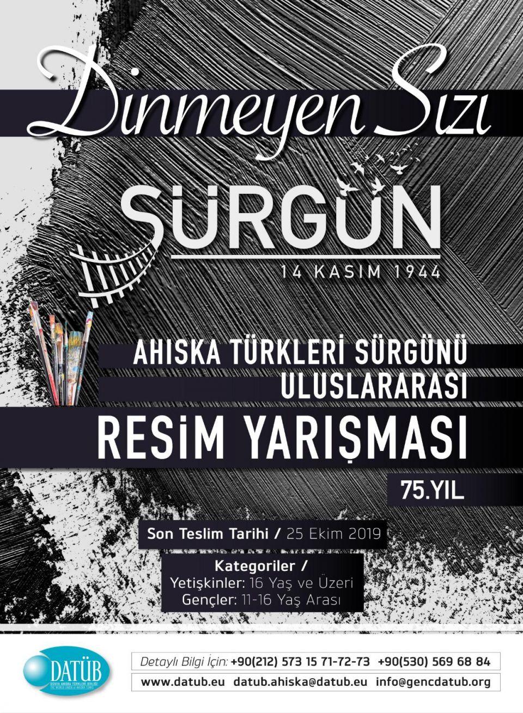 Ahıska Türkleri Sürgünü 75. Yılı Resim Yarışması